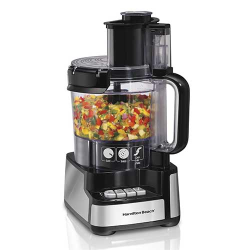 Best Hamilton Beach Food Processors 1. Hamilton Beach 12-Cup Stack and Snap Food Processor (70725A)