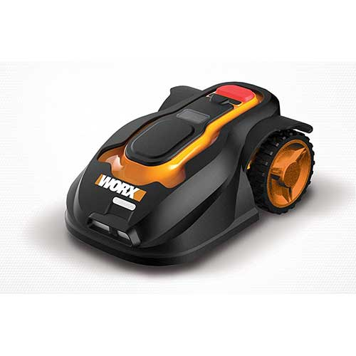 Best Riding Lawn Mower for Rough Terrain 5. Worx WG794 Landroid Pre-Programmed Robotic Lawn Mower with Rain Sensor and Safety Shut-Off