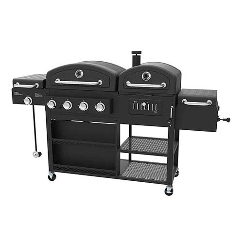 Best Smoker Grill Combo 1. Smoke Hollow 4-in-1 LP Gas Charcoal Smoker Searing BBQ Grill Model PS9900