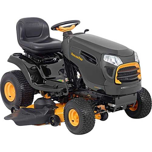 Best Riding Lawn Mower for Rough Terrain 8. Poulan Pro 960420198 48