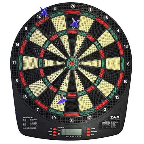 Best Electronic Dart Boards for Home 8. ZAAP Battery Powered Electronic Dart Board Soft Tip Dartboard