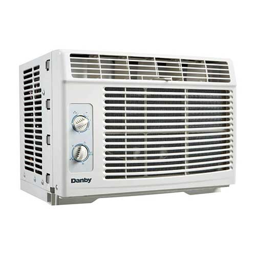 Quietest Window Air Conditioners 8. Danby DAC050BAUWDB Air Conditioner, 5000 BTU, White