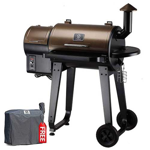 Best Smoker Grill Combo 6. Z GRILLS ZPG-450A 7 in 1 BBQ Auto Temperature Control, 450 sq Inch, Bronze and Black