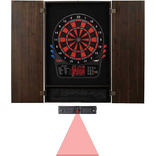 Best Electronic Dart Boards for Home 7. Viper 800 ELECTRONIC DARTBOARD, METROPOLITAN ESPRESSO FINISH CABINET