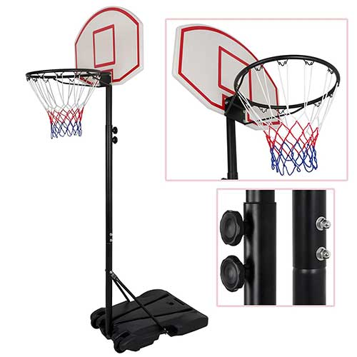 Best Portable Basketball Hoops Under 300 7. Smartxchoices Portable 8 ft Height-Adjustable Basketball Hoop