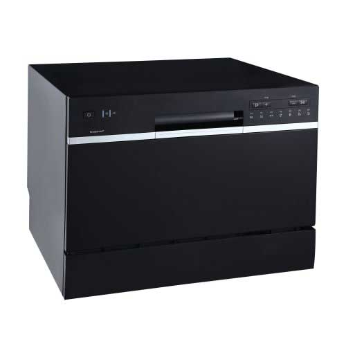 Best Dishwashers Under 400 6. EdgeStar DWP62BL 6 Place Setting Energy Star Rated Portable Countertop Dishwasher