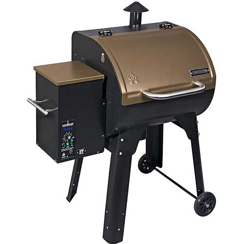 Best Smoker Grill Combo 3. Camp Chef SmokePro XT Wood Pellet Grill Smoker, Bronze (PG24XTB)