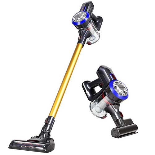 Best Cordless Stick Vacuums for Pet Hair 5. Dibea D18 Lightweight Cordless Stick Vacuum Cleaner