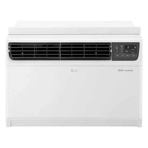 Quietest Window Air Conditioners 9. LG LW2217IVSM 22000 BTU Dual Inverter Window Remote Control, White Air Conditioner