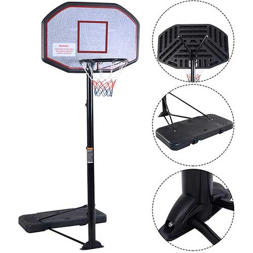 Best Portable Basketball Hoops Under 300 5. Smartxchoices Portable 8 ft Height-Adjustable Basketball Hoop