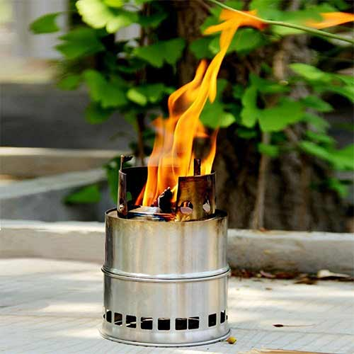 Best Wood Burning Backpacking Stoves 9. FAMI Camping Stove,Wood Stove,Portable Backpacking Stove