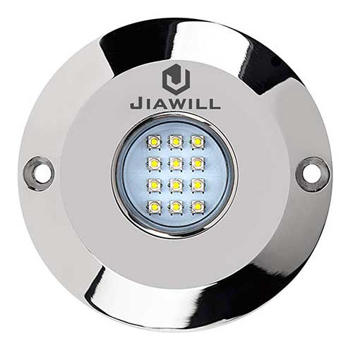 Best Underwater Boat Lights 4. Jiawill 60W CREE LED Surface Mount Underwater Boat Lights