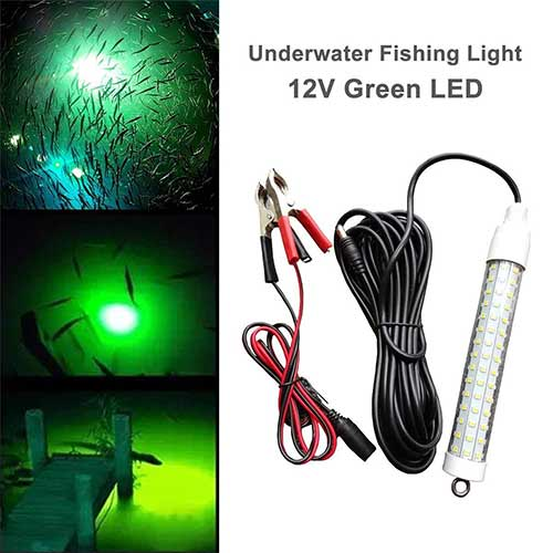 Best Underwater Boat Lights 7. LinkStyle 12V 120 LED 1000 Lumens Lure Bait Finder Submersible Fishing Light 10.5W Night Fishing Finder Lamp Light Crappie Shad Boat LED Submersible Deep Drop Underwater Light