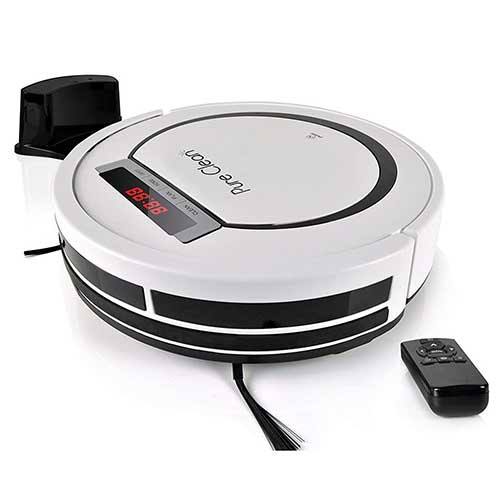 Best Roombas for Pet Hair 5. PURE CLEAN Automatic Programmable Vacuum Cleaner- PUCRC90