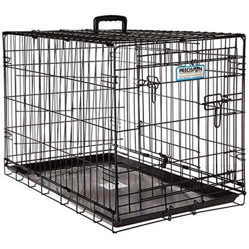 Best Dog Crates for Separation Anxiety 8. Precision Pet Petmate ProValu Two Door Wire Dog Crate Precision Lock System