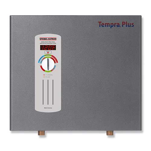 Best Tankless Electric Water Heaters for the Whole House 1. Stiebel Eltron 224199 240V, 1 Phase, 50/60 Hz, 24 kW Tempra 24 Plus Whole House Tankless Electric Water Heater
