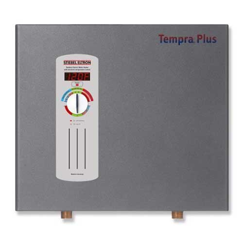 Best Tankless Electric Water Heaters for the Whole House 3. Stiebel Eltron Tempra Plus 24 kW, Tankless Electric Water Heater