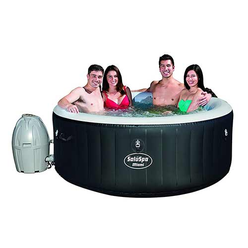 Best plug and play Hot Tubs 6. SaluSpa Miami AirJet Inflatable Hot Tub