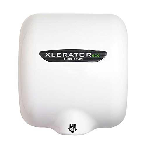 Best Hand Dryers for Schools 8. XleratorEco XL-BW-ECO White Polymer BMC No Heat Hand Dryer