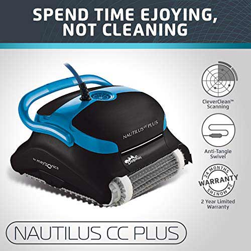 Best Suction Pool Cleaners 1. Dolphin Nautilus CC Plus Automatic Robotic Pool Cleaner