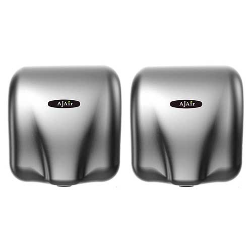 Best Hand Dryers for Schools ​1. AjAir® (2 Pack) Heavy Duty Commercial 1800 Watts High Speed Automatic Hot Hand Dryer