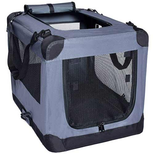 Best Dog Crates for Separation Anxiety 10. Arf Pets Dog Soft Crate Kennel for Pet Indoor Home & Outdoor Use
