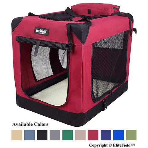 Best Dog Crates for Separation Anxiety 4. EliteField 3-Door Folding Soft Dog Crate