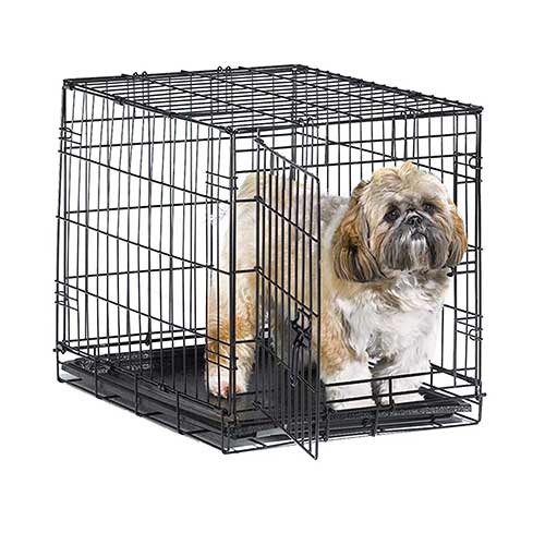 Best Dog Crates for Separation Anxiety 3. New World Folding Metal Dog Crate
