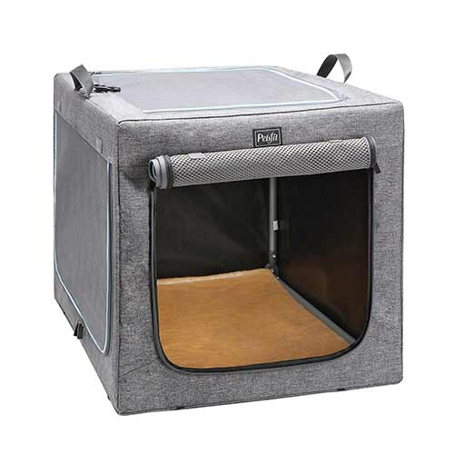 Best Dog Crates for Separation Anxiety 9. Petsfit Indoor/Outdoor Soft Portable Foldable Travel Pet/Dog Home/Crate/Cage