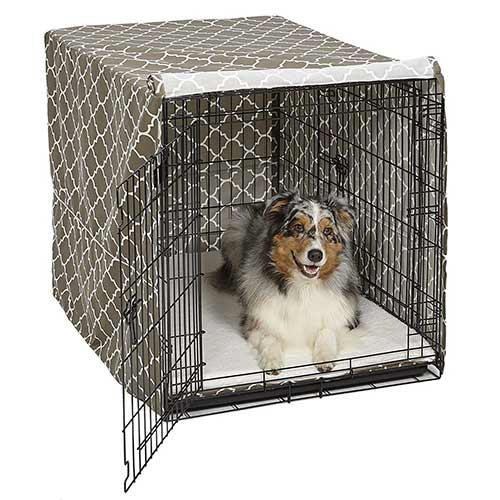 Best Dog Crates for Separation Anxiety 6. MidWest Homes for Pets Dog Crate Cover