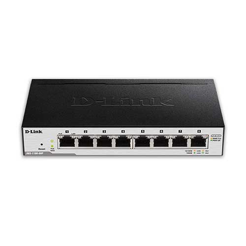 Best Poes Switches for Ip Cameras 3. D-Link 8-Port EasySmart Gigabit Ethernet PoE Switch (DGS-1100-08P)