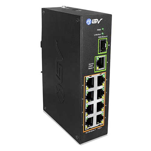 Best Poes Switches for Ip Cameras 2. BV-Tech 10 Port PoE+ Industrial DIN Rail Switch