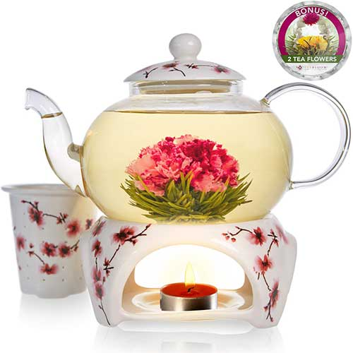 Best Teapots For Keeping Tea Hot 10. LeBaux Glass Tea Pot Set