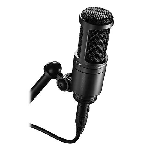 Best Vocal Condenser Mics Under 200 4. Audio-Technica AT2020 Cardioid Condenser Studio XLR Microphone