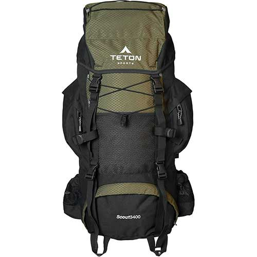 Best Hiking Backpack Under 100 1. TETON Sports Scout 3400 Internal Frame Backpack