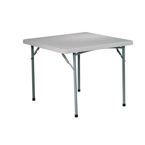 Best Folding Dining Tables 5. Office Star Resin Multipurpose Square Table