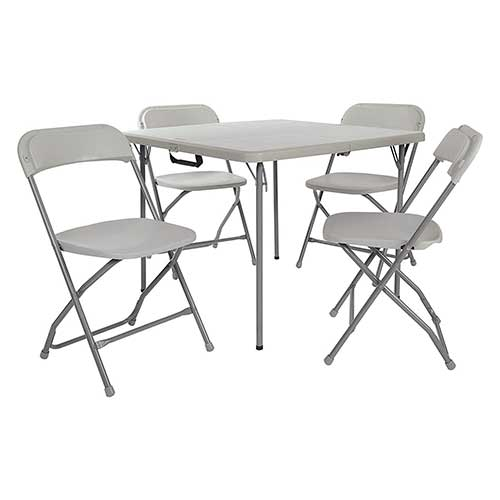 Best Folding Dining Tables 6. Office Star PCT-05 Table and Chair Set