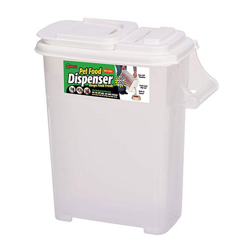 Best Dog Food Storage Container 6. Buddeez Medium (Up to 12lb) Fresh Dry Dog & Cat Food Plastic Storage Container