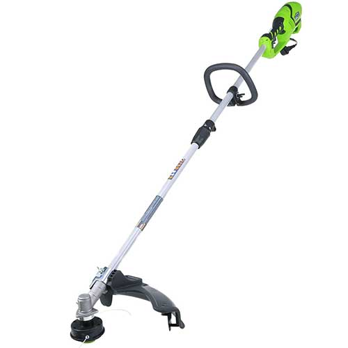 Best Electric Weed Eaters for The Money 2. Greenworks 18-Inch 10 Amp Corded String Trimmer (Attachment Capable) 21142