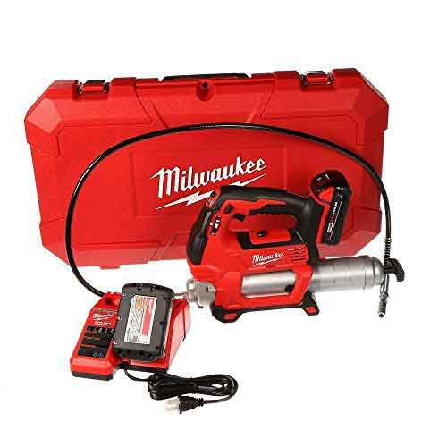 Best Cordless Grease Guns 1. Milwaukee 2646-22CT M18 18-Volt Lithium-Ion Cordless 2-Speed Grease Gun 2-Battery Kit