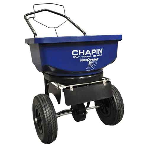Best Commercial Walk Behind Salt Spreaders 1. Chapin 80088 80-Pound Residential Salt and Ice Melt Spreader, (1 Spreader/Package)