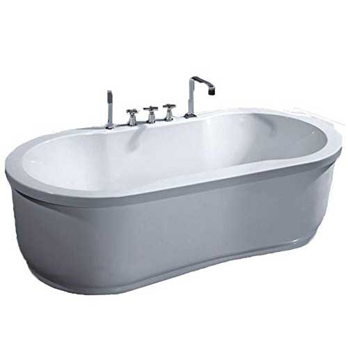 5. Freestanding Jetted Massage Hydrotherapy Bathtub, Indoor Whirlpool Hot Bath Tub