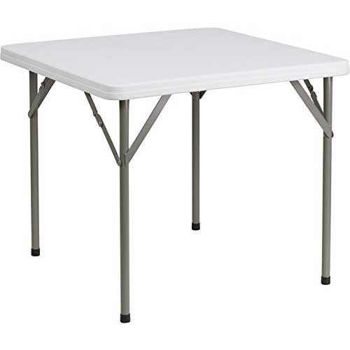 Best Folding Dining Tables 4. Flash Furniture 34'' Square Granite White Plastic Folding Table
