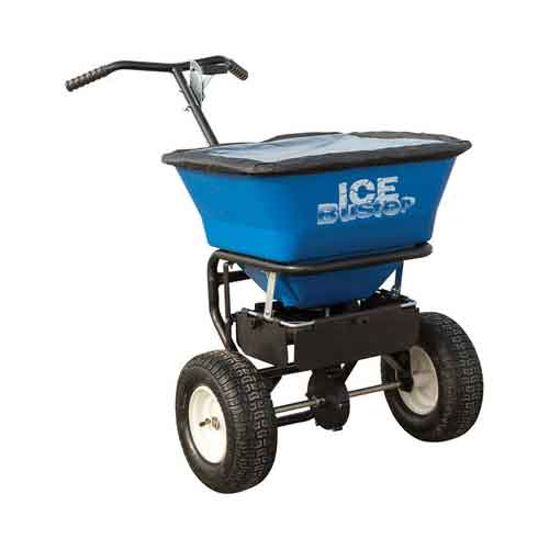 Best Commercial Walk Behind Salt Spreaders 4. Ice Buster Walk-Behind Salt Spreader