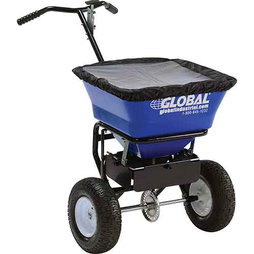 Best Commercial Walk Behind Salt Spreaders 3. Universal Spreader, 100 Lb. Capacity by Global Industrial