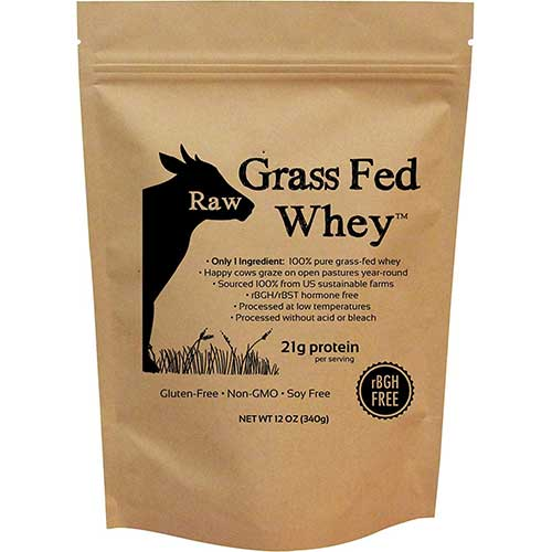 Best Organic Grass Fed Whey Protein Concentrate 1. Raw Grass Fed Whey - Happy Healthy Cows