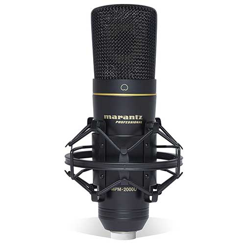 Best Vocal Condenser Mics Under 200 6. Marantz Professional MPM-2000U | Studio Condenser USB Microphone