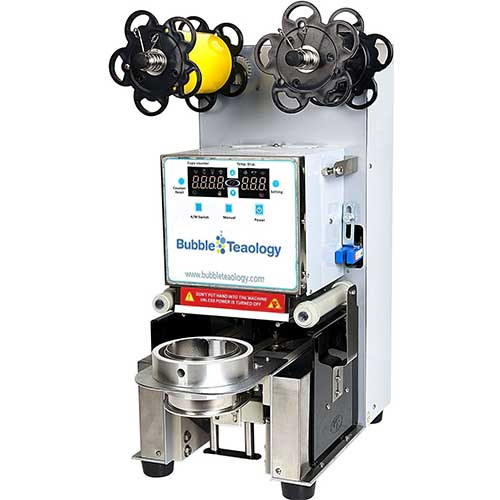 Best Fully Automatic Coffee Machines 8. BubbleTeaology Electric Fully Automatic Tea Cup Sealing Machine