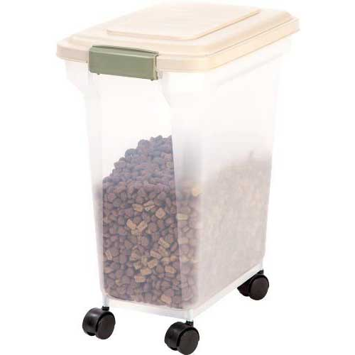 Best Dog Food Storage Container 9. Dog Food Storage Container 28 Quart 20 pounds Rollers Pet Supplies Plastic New