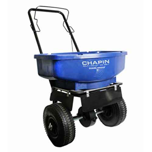 Best Commercial Walk Behind Salt Spreaders 7. CHAPIN R E 81008A 80LB Residential Salt Spreader, 80 lb